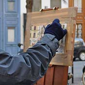 Michael's plein air painting featured in Mad About Paris